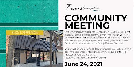 Jefferson-Chalmers Mainstreet Master Plan Community Meeting - June 24 tickets