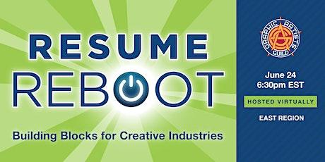 RESUME REBOOT: Building Blocks for Creative Industries tickets