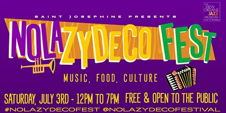 NOLA Zydeco Fest at the New Orleans Jazz Museum - French Quarter tickets