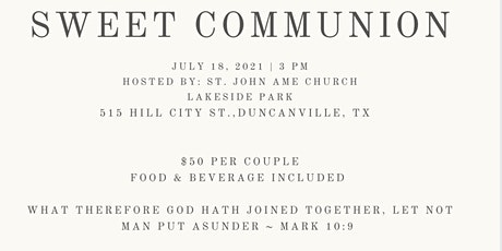 A Sweet Communion Sand Renewal Ceremony tickets