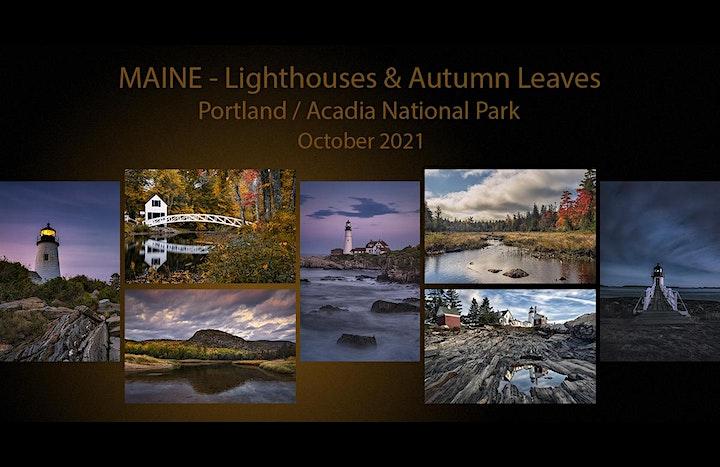 MAINE / Lighthouses & Autumn Leaves image