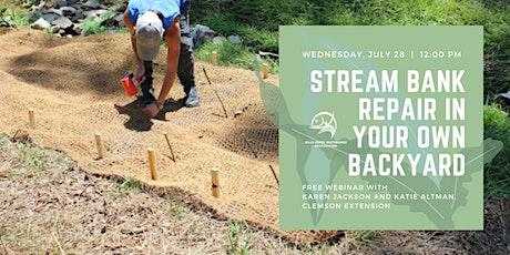 Stream Bank Repair in Your Own Backyard Webinar tickets