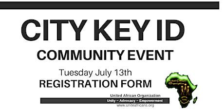 City Key ID Print Event tickets