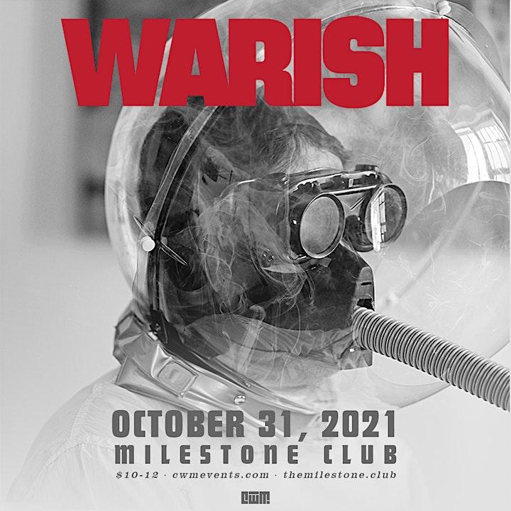 WARISH w/ TRASH ROOM & TETANUS at The Milestone on Sunday October 31st 2021 image