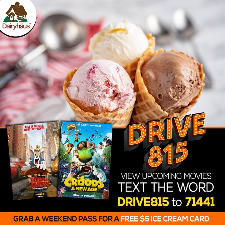 Tom  and Jerry / The Croods 2 @ The Drive 815 image