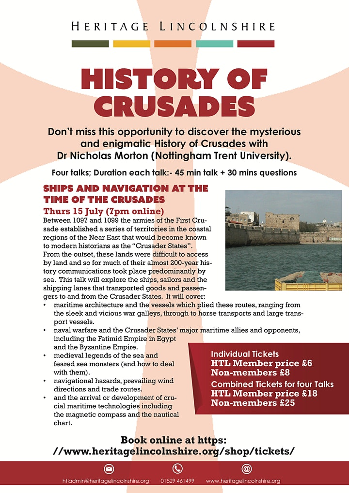 ONLINE TALK Ships and navigation at the time of the Crusades image