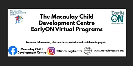 Macaulay Child Development Centre: EarlyOn: Talk, Read, and Sing at Home tickets
