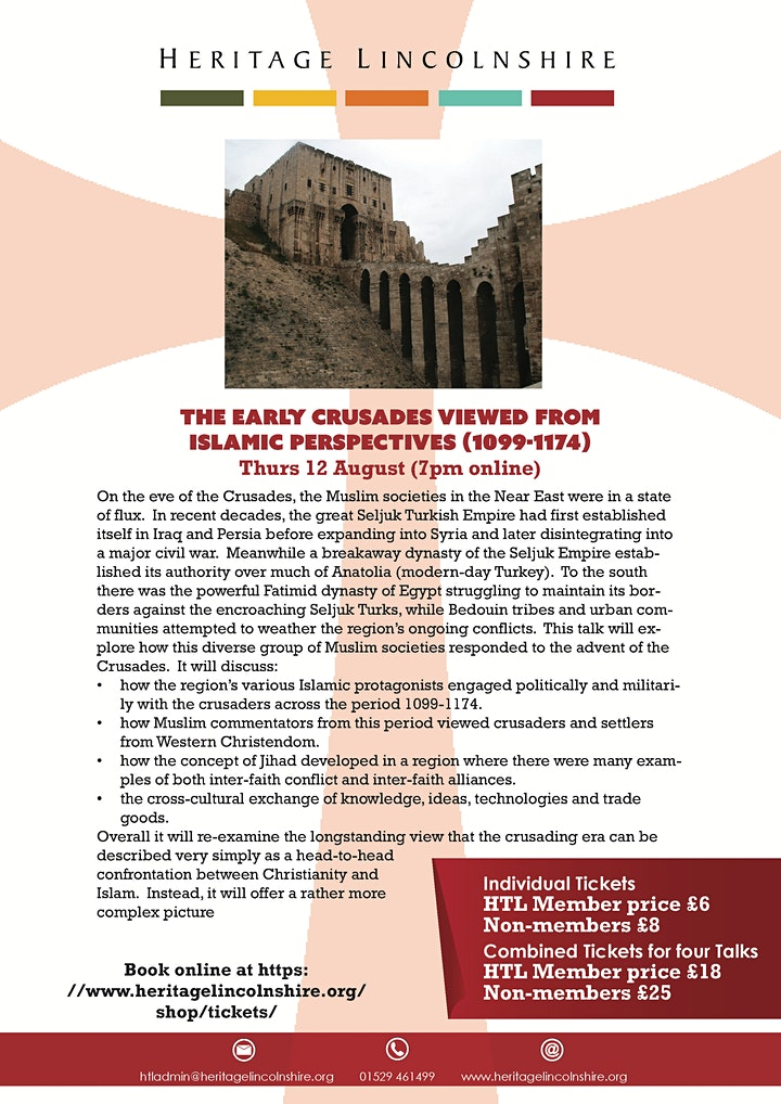 ONLINE TALK The early Crusades viewed from Islamic perspectives (1099-1174) image