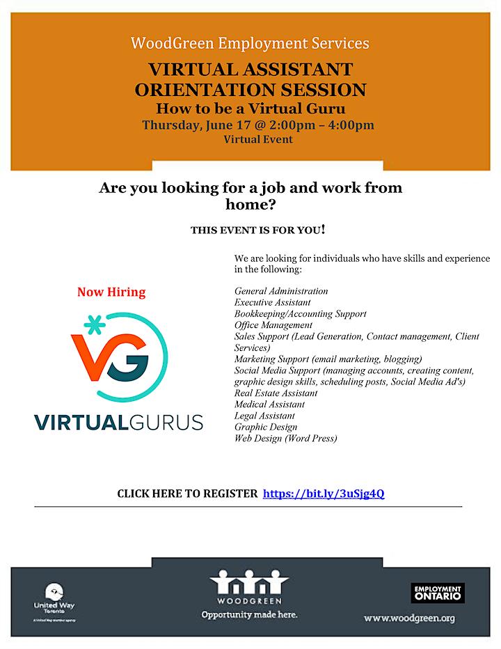 Virtual Assistant Orientation Session  June 17 image