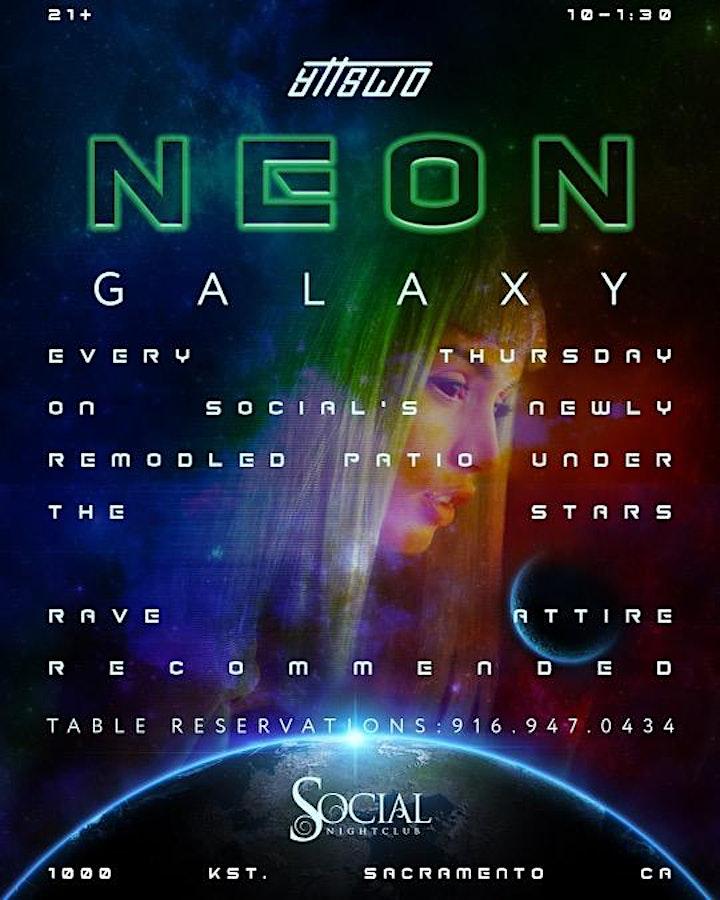 Neon Galaxy (EDM Rooftop Patio Party) image