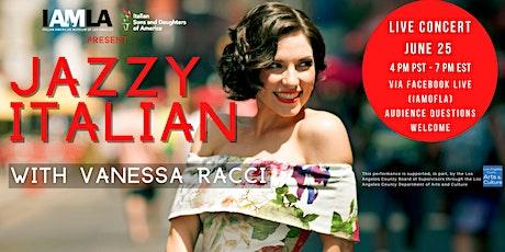 Jazzy Italian with Vanessa Racci tickets