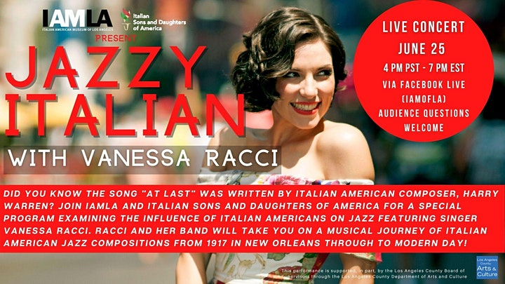 Jazzy Italian with Vanessa Racci image