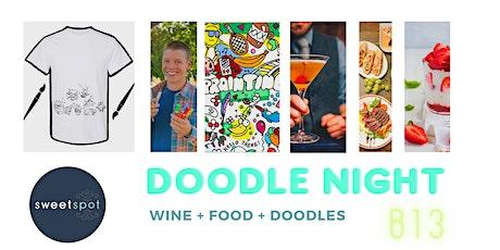 Doodle Night Art + Dinner tickets