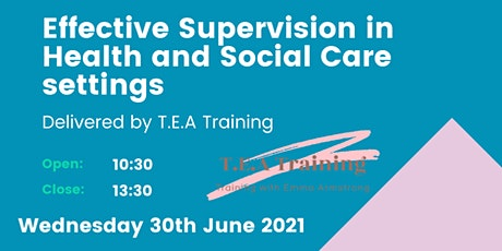 Effective Supervision in Health and Social Care Settings tickets