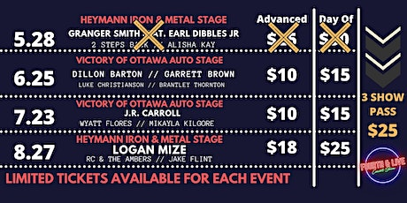 Fourth and Live:  3 Show Pass, Includes: June, July, August tickets