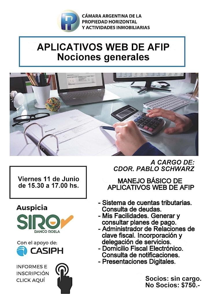 Imagen de Aplicativos web de AFIP - Nociones generales