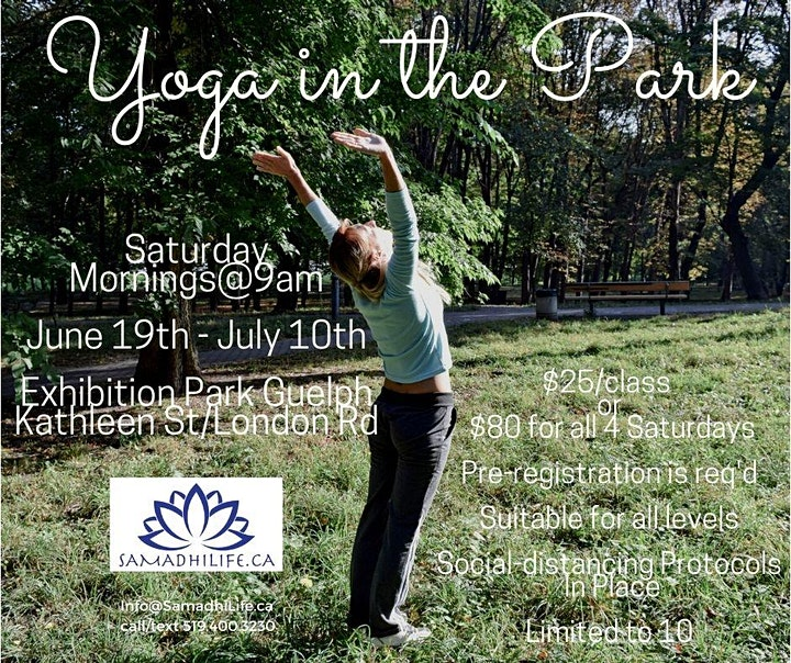 Yoga In the Park!  Exhibition Park Guelph image
