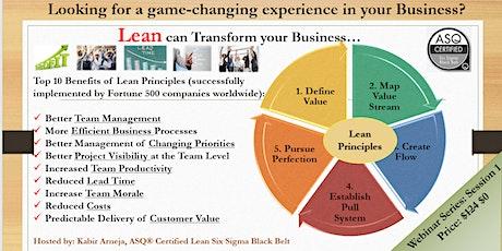 Lean Principles Webinar Series: Session 1 tickets