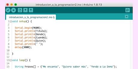 Taller de introducción a la programación y electrónica por Nicolás Saganías entradas