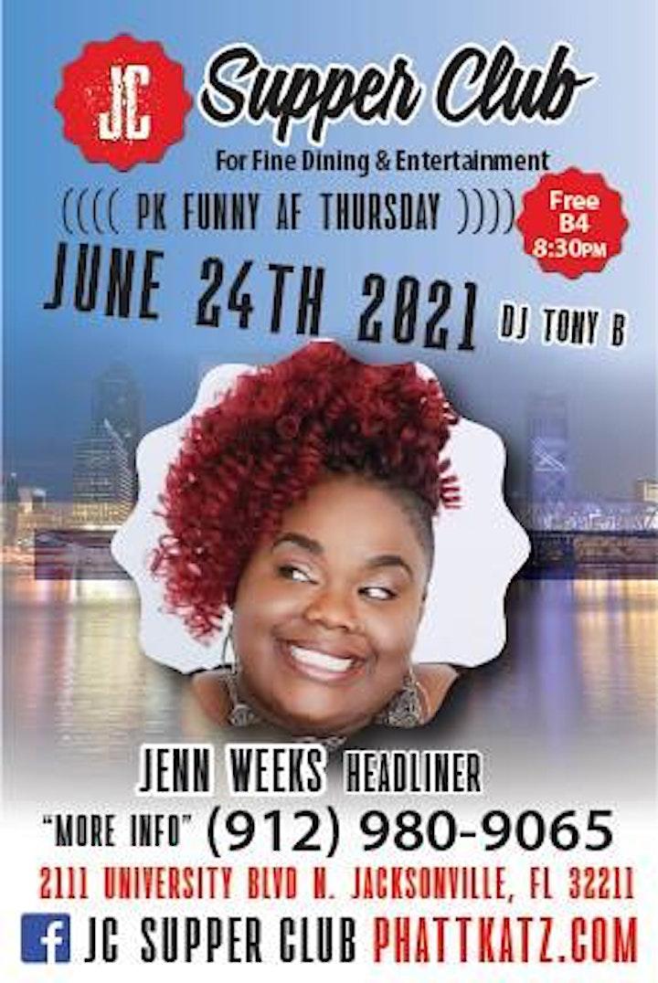 PK Funny AF Thursdays headliner Jenn Weeks image