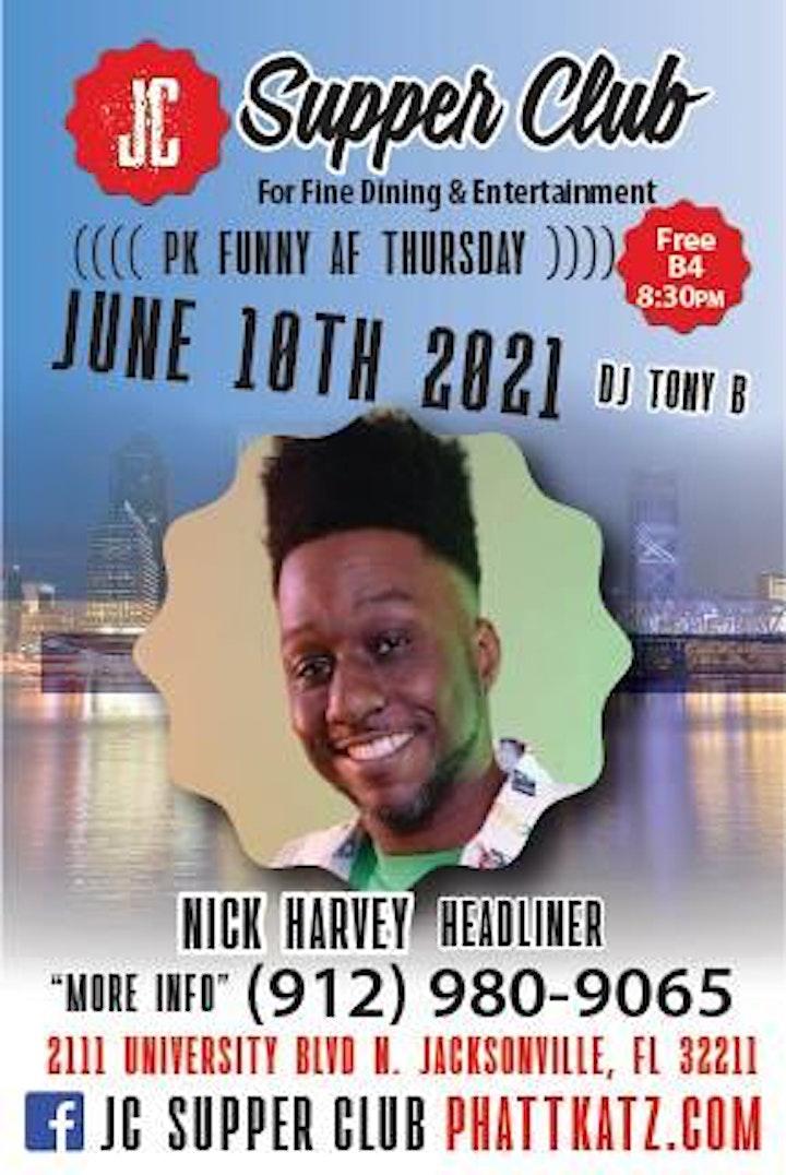 PK Funny AF Thursdays Headliner Nick Harvey image
