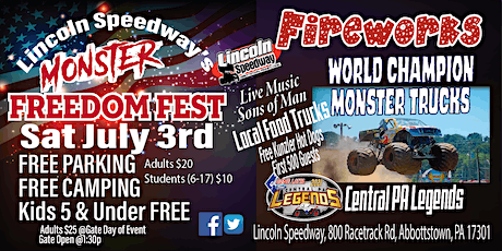 Lincoln Speedway's Monster Freedom Fest tickets