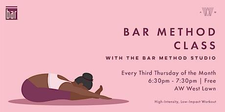 Bar Method Class - July 15th tickets