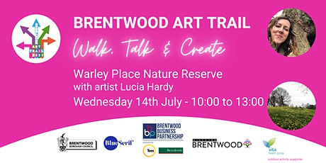 Brentwood Art Trail - Walk, Talk & Create at Warley Place Nature Reserve tickets