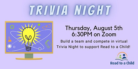 Read to a Child's Virtual Team Trivia Night! tickets