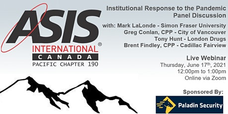 Institutional Response to the Pandemic - A Panel Discussion tickets