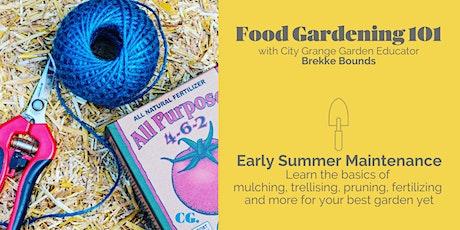 Early Summer Maintenance in Your Veggie Garden - ONLINE Class tickets