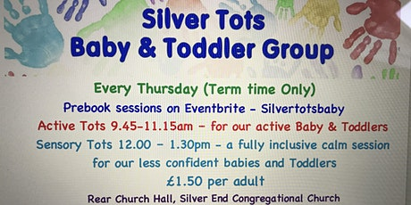 Silver Tots Baby and Toddler Group - Active Tots - 15th July 9.45-11.15am tickets