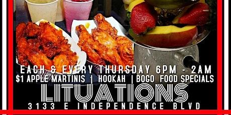 $1 Martinis BoGo Food Hookah tickets