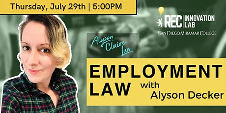 Learn About Employment Law with Alyson Decker! tickets