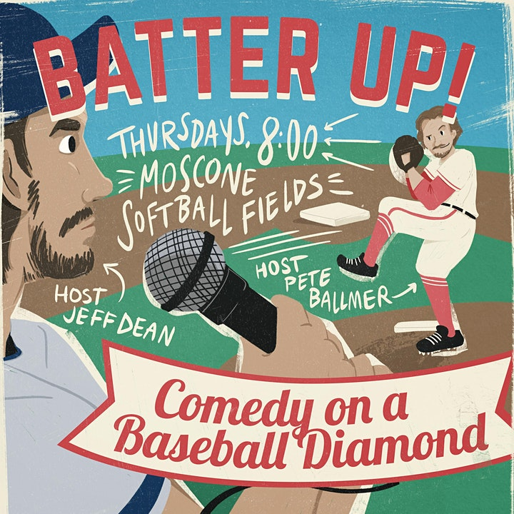 Batter Up: Covid-Safe Comedy on a Baseball Diamond image