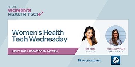 Women's Health Tech Wednesdays   Jackie Vinyard, Prima-Temp tickets