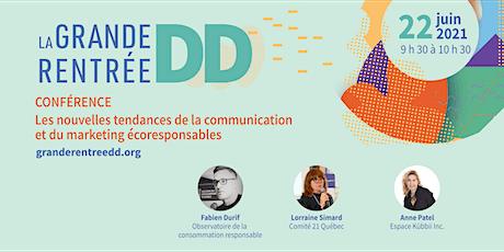 Conférence : nouvelles tendances communication marketing écoresponsables billets
