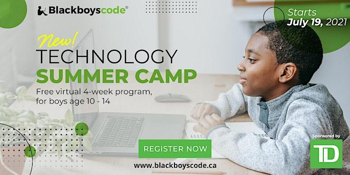 Black Boys Code Technology Summer Camp- Halifax image