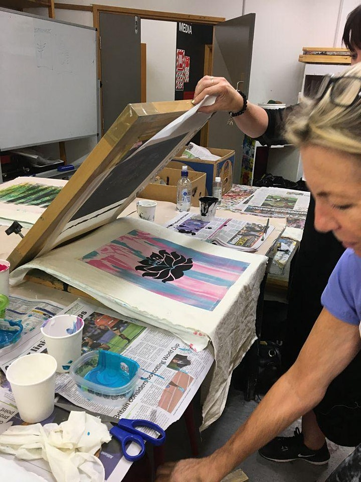 Screen Printing on Fabric - 6 Week Tuesday Evening Workshop - All Levels image