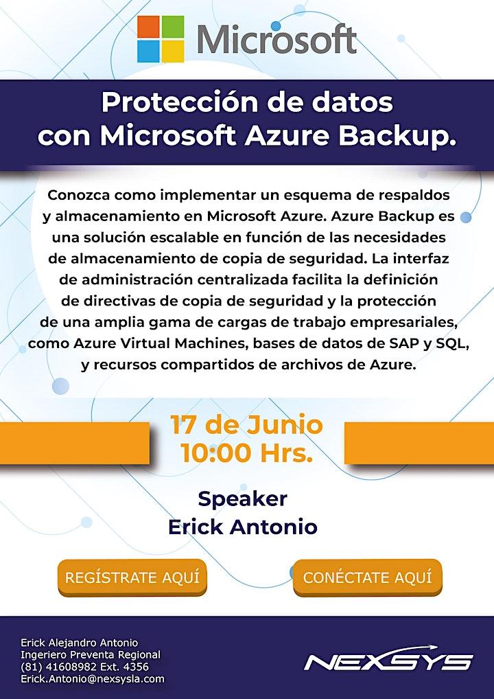 Imagen de Protección de datos con Microsoft Azure Backup.