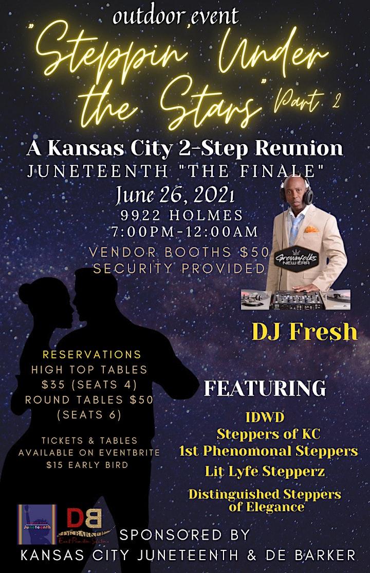 """Steppin' Under the Stars"" Part 2 A Kansas City 2-Step Reunion image"