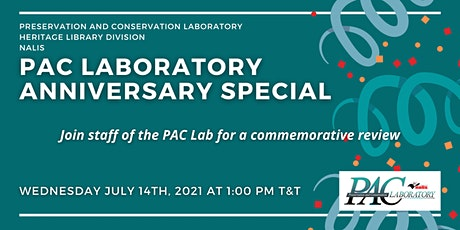 PAC Laboratory Anniversary Special tickets