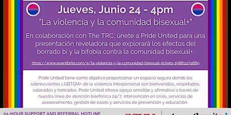 La violencia y la comunidad bisexual+ entradas