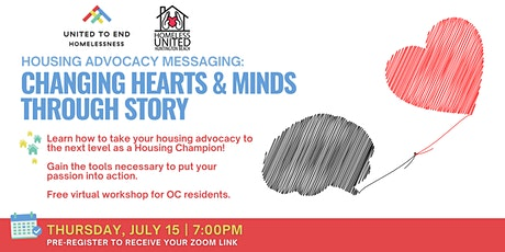 Housing Advocacy Messaging: Changing Hearts & Minds - HUHB tickets