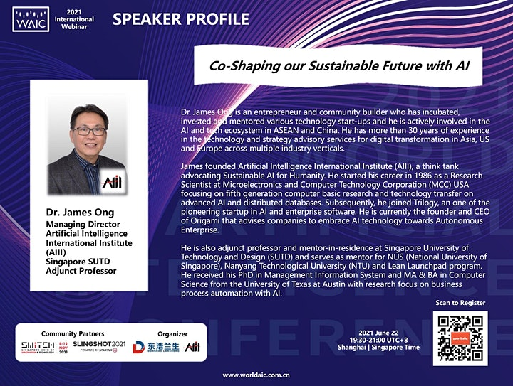 WAIC 2021 International Webinar: Co-Shaping our Sustainable Future with AI image