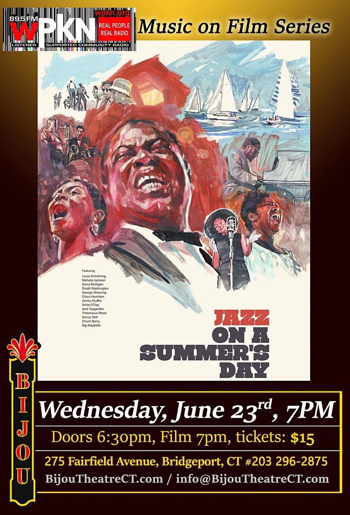 WPKN's Music on Film Series - Jazz on a Summer's Day image
