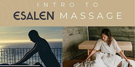 Intro to Esalen Massage tickets