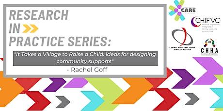Research In Practice Series: Rachel Goff tickets