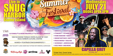 Marcel Hundo Presents Summer Concert Festival  live in Snug Harbor tickets