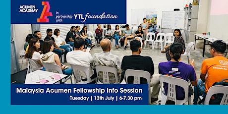 Malaysia Acumen Fellowship Info Session tickets